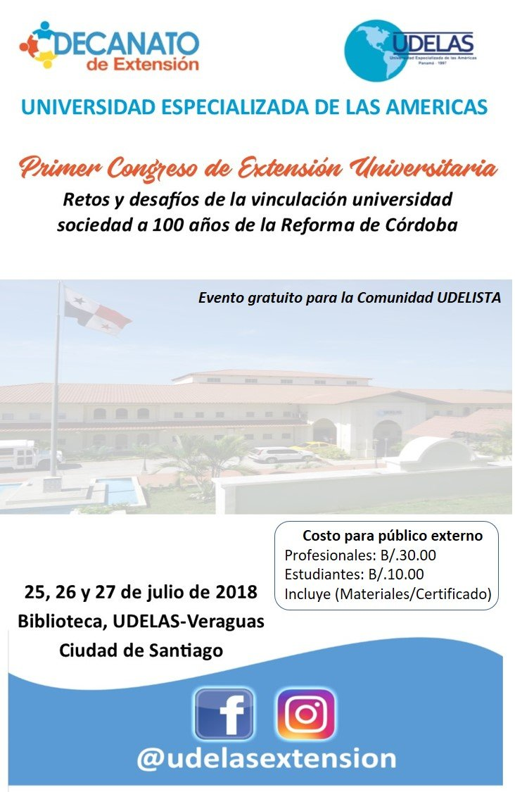 UDELAS: Primer Congreso de Extensión Universitaria